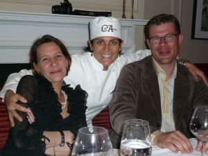 Montclair Chef Ariane Duarte and winemakers Virgile & Laure Vichelot
